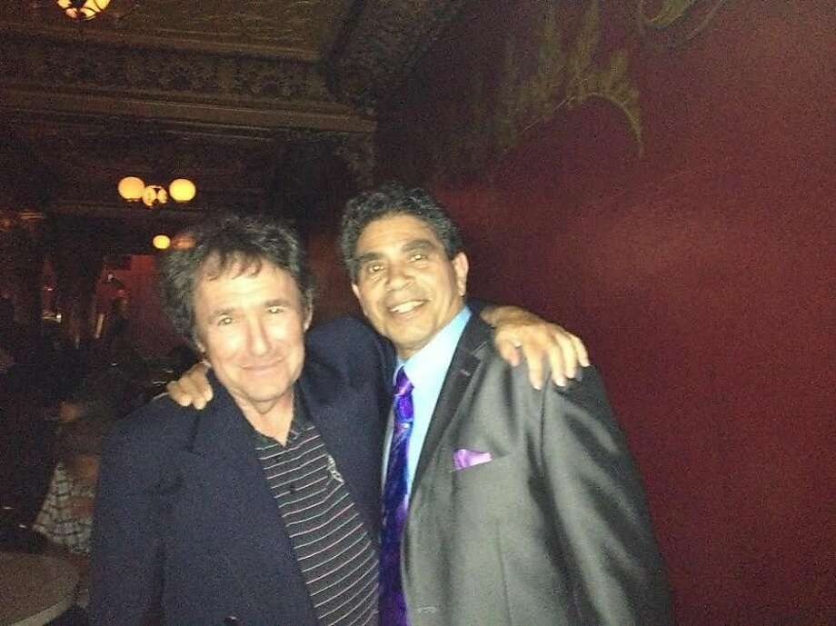 Promoter Jeff Trager (left), with former Tower of Power vocalist Rick Stevens, pushed cuts for radio play for 35 years. Photo: Bobby Gold
