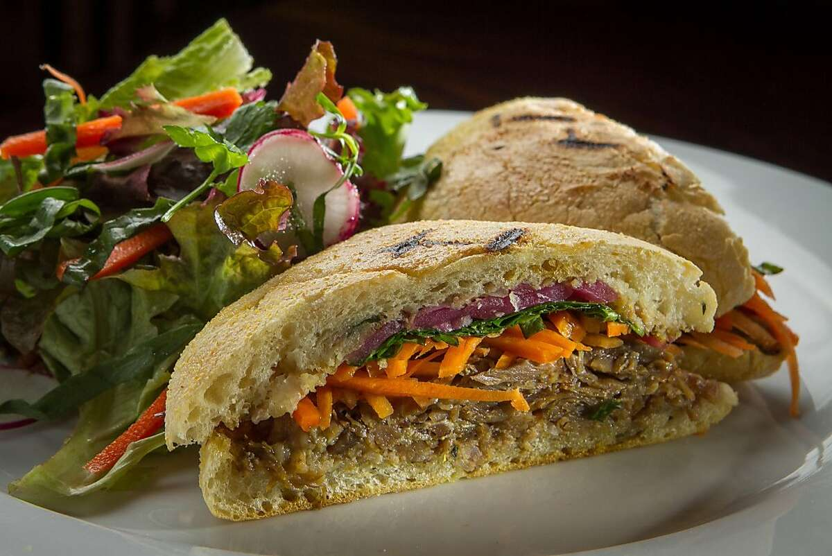 The Grateful Duck sandwich at the Fenix in San Rafael, Calif., is seen on December 20th, 2013.