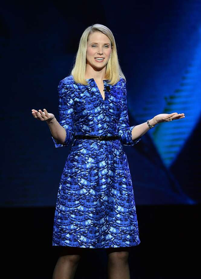 CEO Marissa Mayer delivers a keynote address at the 2014 International CES in January in Las Vegas. Photo: Ethan Miller, Getty Images