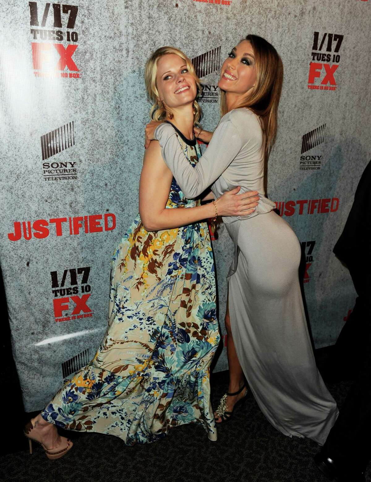 Actress Joelle Carter, aka Ava Crowder, pictured with costar Natalie Zea.