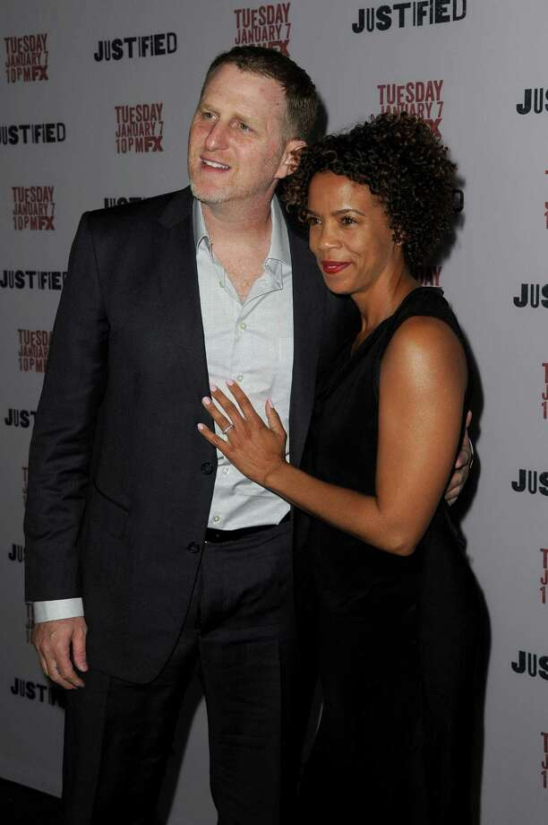 Actor Michael Rapaport, aka Dale Crowe, Jr., pictured with Kebe Dunn. Photo: Kevin Winter, Getty Images / 2014 Getty Images