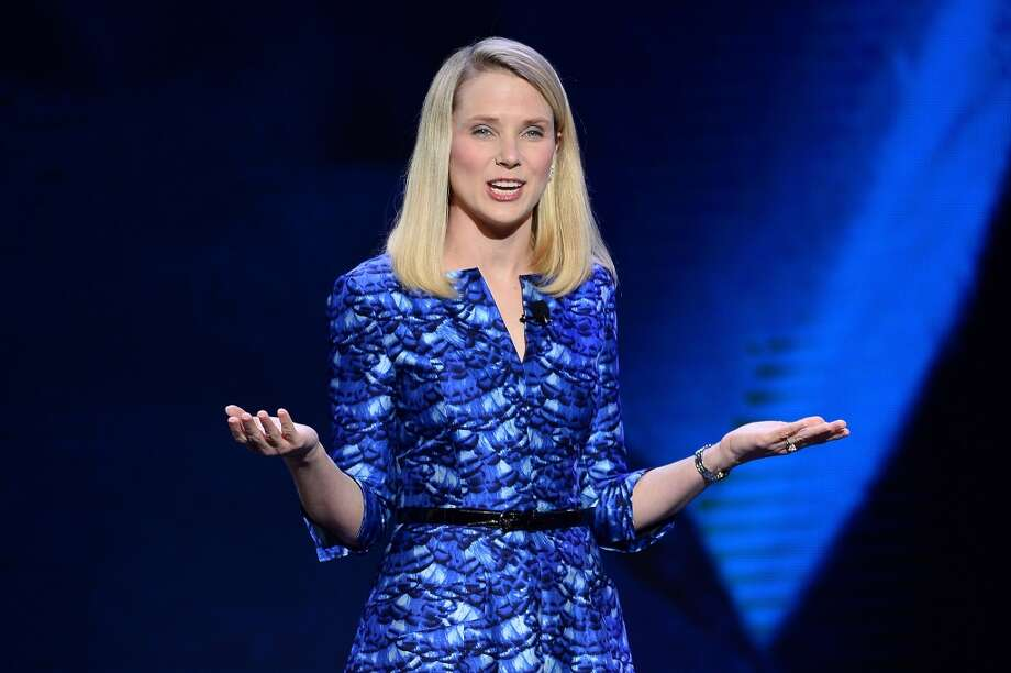 Yahoo president and CEO Marissa Mayer delivers a keynote address at the 2014 International CES. Mayer announced that Yahoo has acquired a search product called Aviate. Photo: Ethan Miller, Getty Images