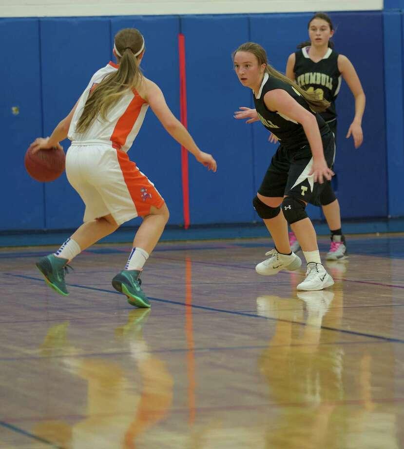 Trumbull vs. Danbury in girls FCIAC basketball, at Danbury High School in Danbury, Conn, on Tuesday, January 7, 2014. Photo: H John Voorhees III / The News-Times Freelance