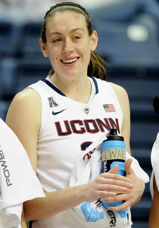 Breanna Stewart smiles during the second half of an NCAA college basketball game against Houston, Tuesday, Jan. 7, 2014, in Storrs, Conn.  (AP Photo/Jessica Hill) Photo: Jessica Hill, Associated Press / Associated Press