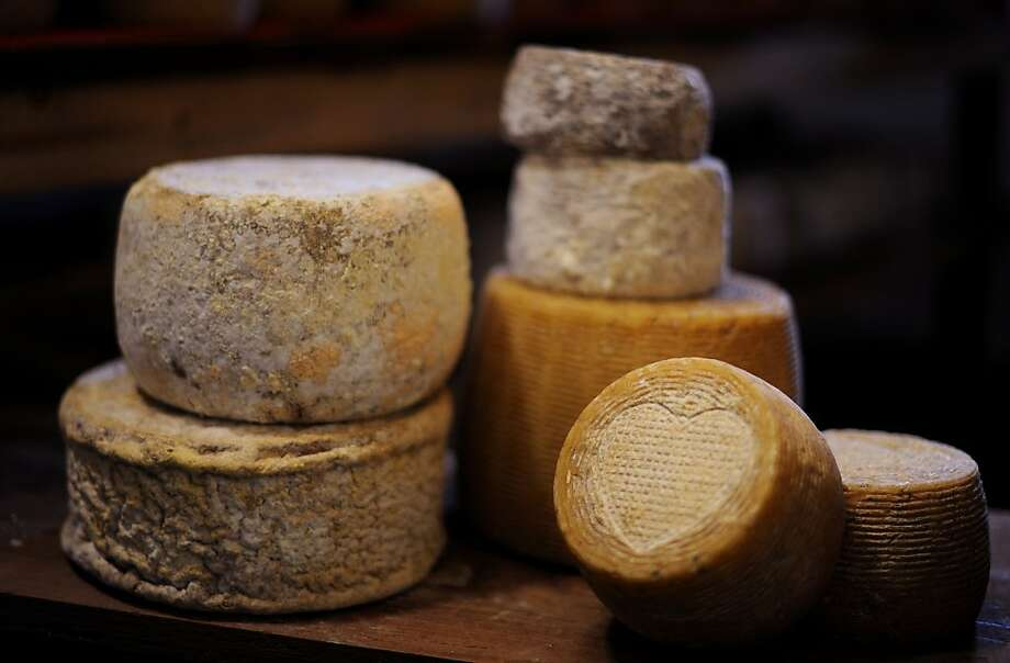 A variety of sheep and cow milk cheeses. Photo: Erik Castro, Special To The Chronicle