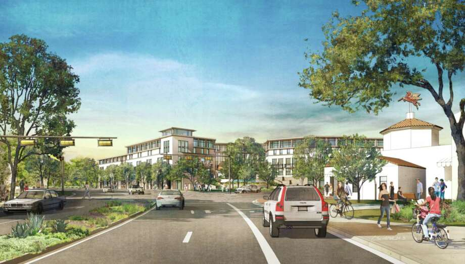 This is an artist's depiction of what the intersection of Broadway and Austin Highway could look like with the Alamo Heights Gateway complex. Photo: Courtesy Illustration