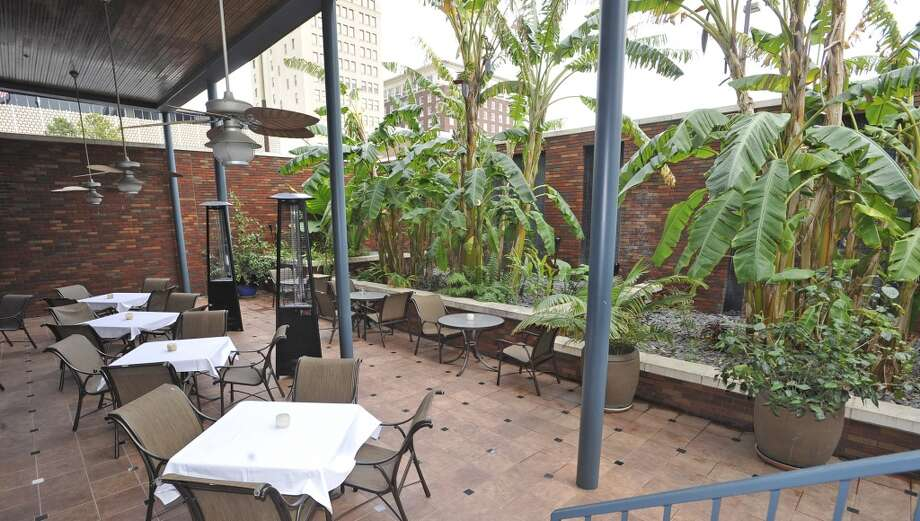 The outdoor patio behind the main dining room. Suga's is our Valentine's issue restaurant of the week.  Dave Ryan/The Enterprise Photo: Dave Ryan/The Enterprise