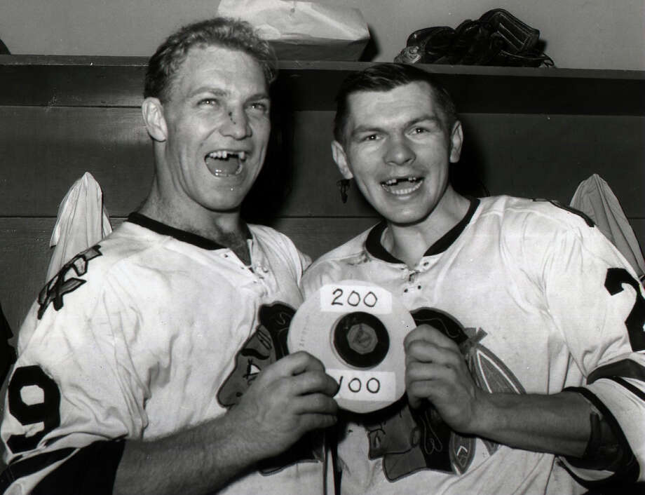 Playing professional ice hockey without helmetsPeople used to actually do this. People also used to lose a lot more teeth than they do now. Photo: B Bennett, Getty Images / 1960 Bruce Bennett Studios