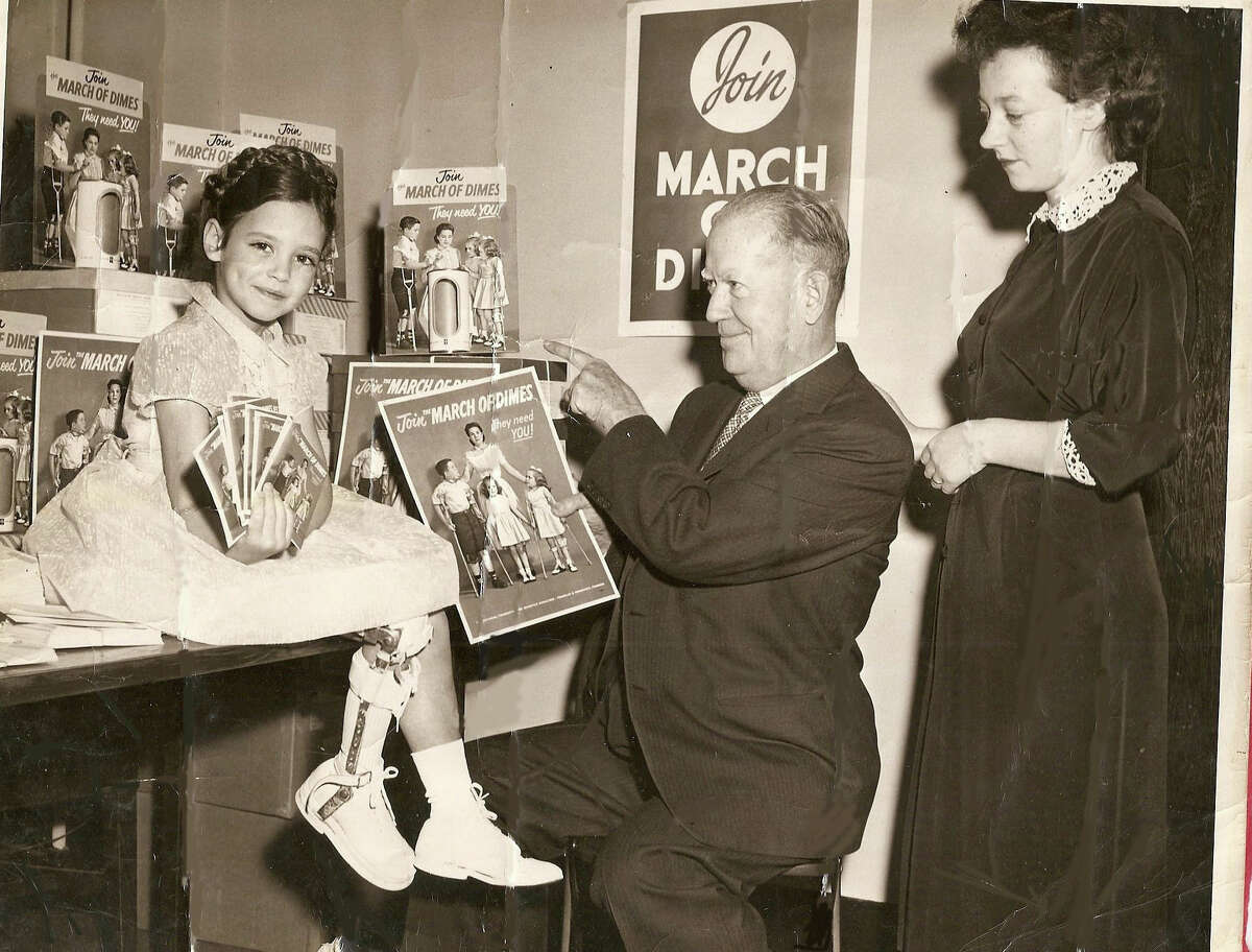 Kathy McShane, of New Canaan, Conn., was featured in a March of Dimes polio poster when she was a child. McShane, who contracted polio when she was 18 months old, was named March of Dimes ambassador in October, 2013.