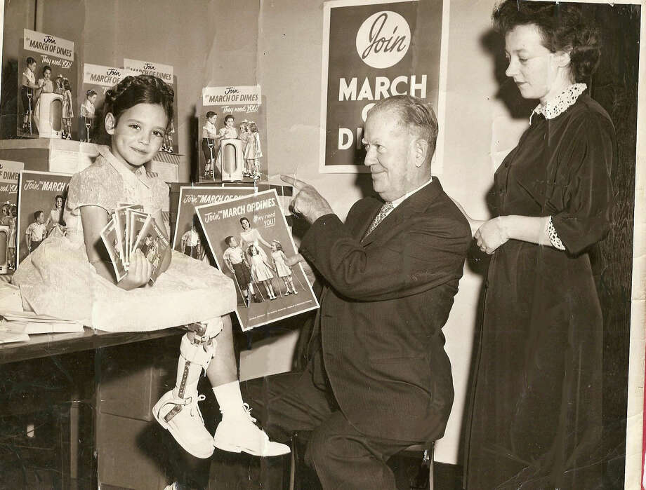 Kathy McShane, of New Canaan, Conn., was featured in a March of Dimes polio poster when she was a child. McShane, who contracted polio when she was 18 months old, was named March of Dimes ambassador in October, 2013. Photo: Contributed Photo, Nelson Oliveira / New Canaan News