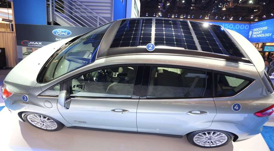 Ford's new solar powered C-Max is displayed during the 2014 International CES at the Las Vegas Convention Center. Photo: AFP/Getty Images