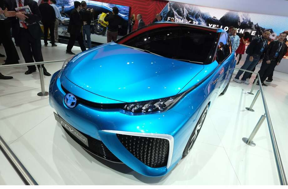 Toyota shows their future mobility concept Toyota FV2 during the 2014 International CES. Photo: AFP/Getty Images