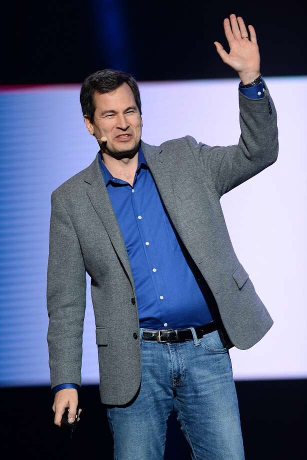 Yahoo! Vice President of Editorial David Pogue speaks during a keynote address by Yahoo! President and CEO Marissa Mayer at the 2014 International CES. Photo: Getty Images