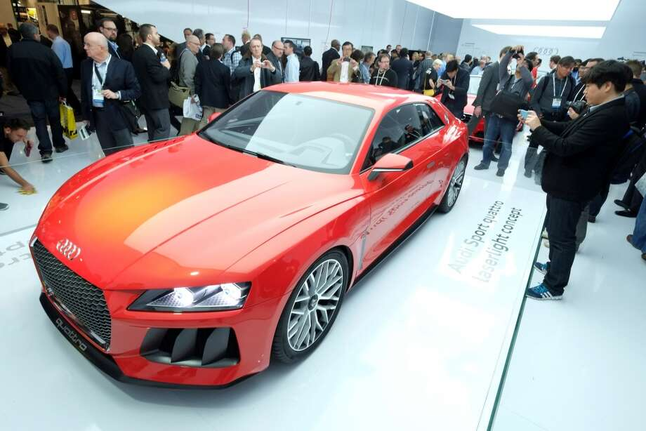 The Audi Quattro Sport Laserlight Concept is displayed during the 2014 International CES at the Las Vegas Convention Center. Photo: AFP/Getty Images