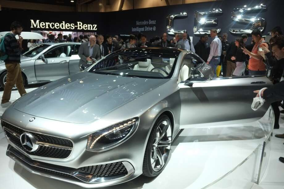 The Mercedes S-Class Coupe is displayed during the 2014 International CES. Photo: AFP/Getty Images
