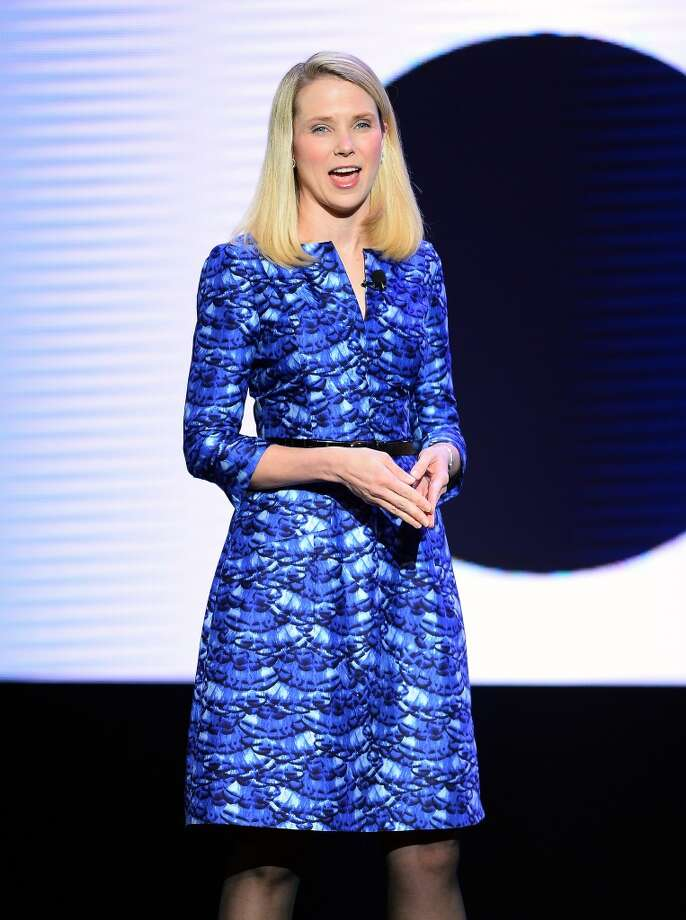 Yahoo! President and CEO Marissa Mayer delivers a keynote address at the 2014 International CES. Photo: Getty Images