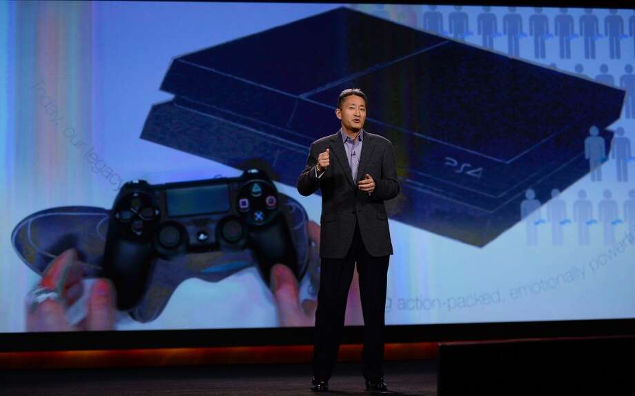Sony Corp. President and CEO Kazuo Hirai delivers a keynote address at the 2014 International CES. Photo: Getty Images