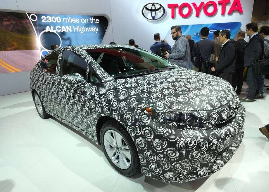 Toyota's Hydrogen Cell fueled Car is seen during the 2014 International CES at the Las Vegas Convention Center on January 7, 2014 in Las Vegas. Photo: AFP/Getty Images