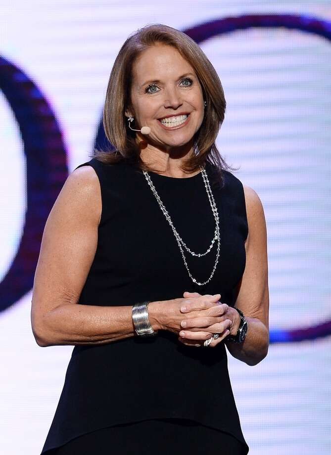 Journalist Katie Couric speaks during a keynote address by Yahoo! President and CEO Marissa Mayer at the 2014 International CES at The Las Vegas Hotel & Casino on January 7, 2014 in Las Vegas, Nevada. CES, the world's largest annual consumer technology trade show, runs through January 10 and is expected to feature 3,200 exhibitors showing off their latest products and services to about 150,000 attendees. Photo: Getty Images