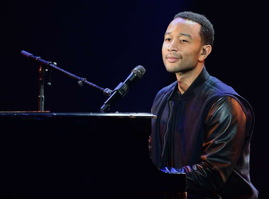 Recording artist John Legend performs during a keynote address by Yahoo! President and CEO Marissa Mayer at the 2014 International CES at The Las Vegas Hotel & Casino. Photo: Getty Images