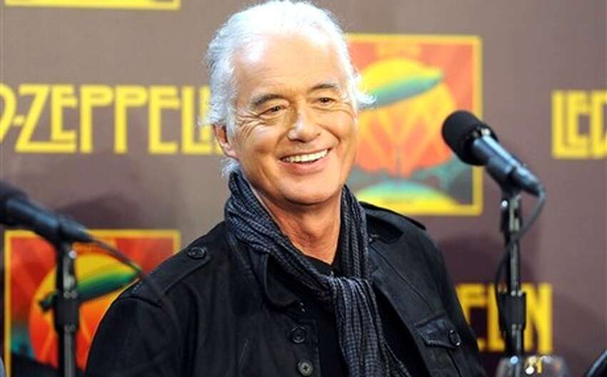 Jimmy Page, lead guitarist of Led Zeppelin Born: January 9, 1944
