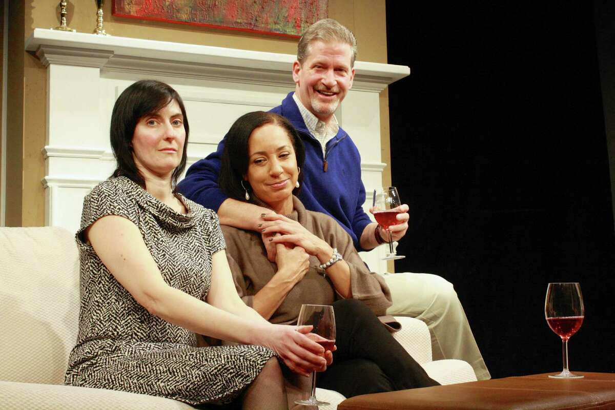 Colleen Lovett, Stacy Rowland and Patrick White in Curtain Call Theatre's