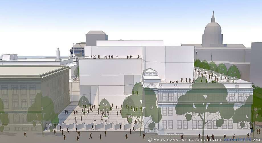 An architect's rendering shows the proposed Ruth Asawa School of the Arts in a renovated historic building on Van Ness Avenue. Photo: Handout, Coutesy San Francisco Unified Sc