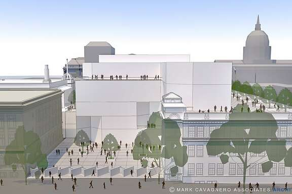 Architect's rendering of proposed Ruth Asawa School of the Arts building