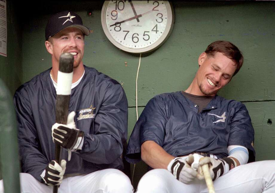 Craig Biggio and Jeff Bagwell made up the Killer B's. This month in Florida they are helping the Astros during Spring Training. Photo: Howard Castleberry, AP