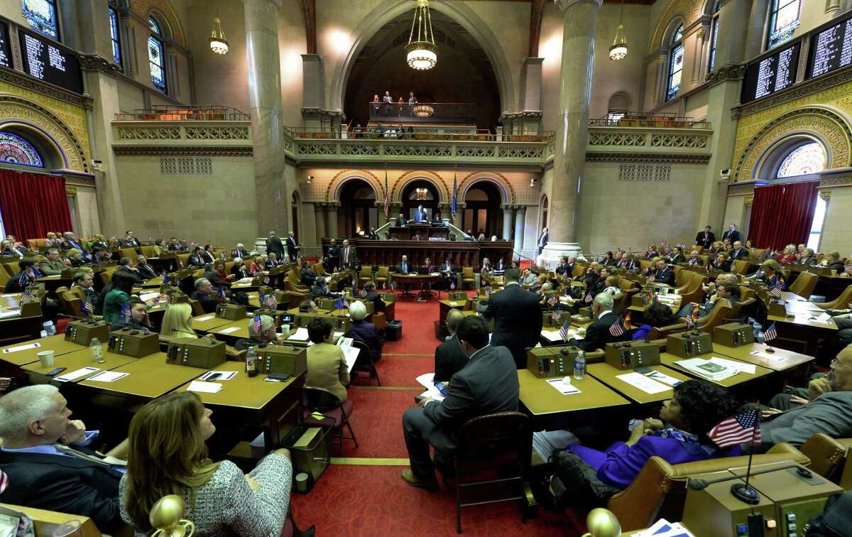 Assembly Speaker Shelly Silver presides over the opening of the 2014 session Wednesday, Jan. 8, 2014, at the Capitol in Albany, N.Y. (Skip Dickstein / Times Union)