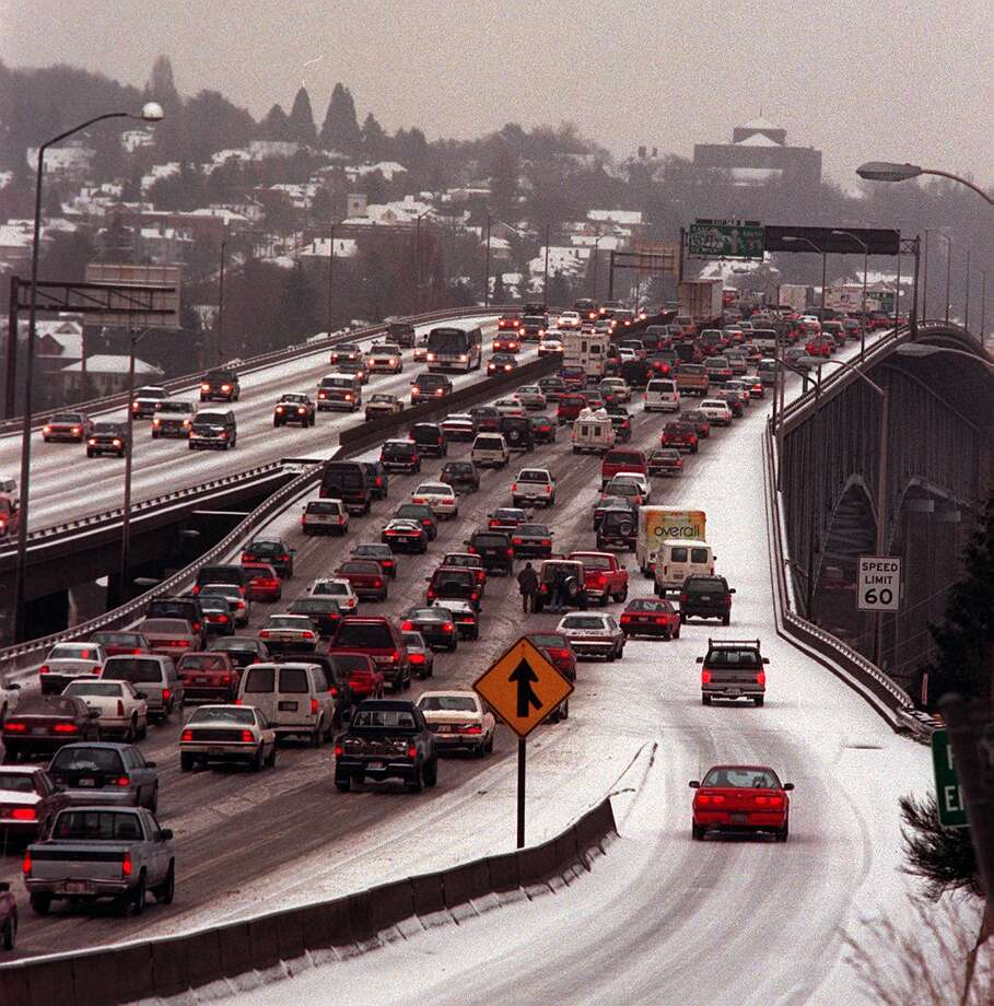 We're not the best at leaving ample stopping distance. Photo: SCOTT EKLUND, Seattlepi.com File Photo
