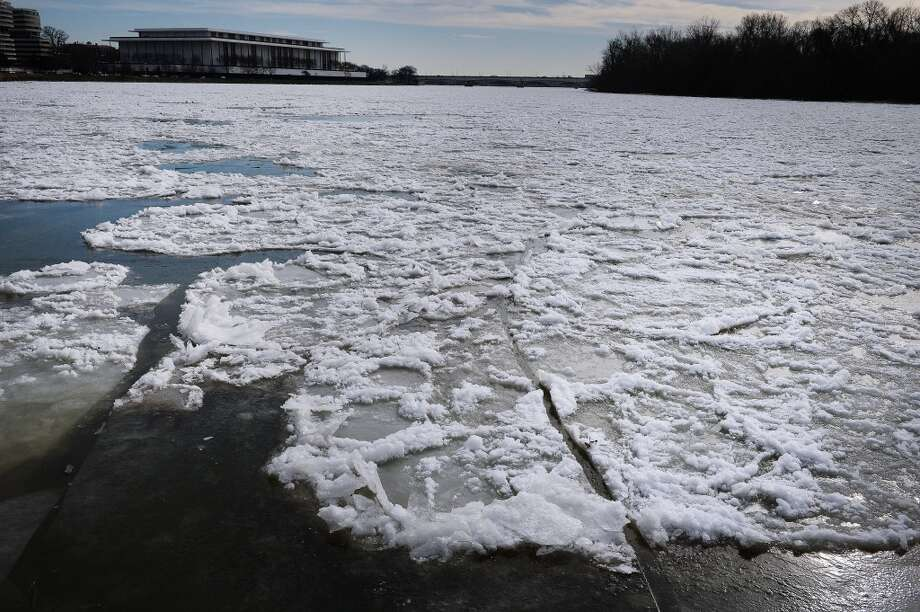 Frozen waters of the Washington Channel can be seen on Jan. 8, 2014, in Washington. A polar vortex that has swept the east coast brought dangerously cold temperatures. (Olivier Douliery/Abaca Press/MCT) Photo: Olivier Douliery, McClatchy-Tribune News Service