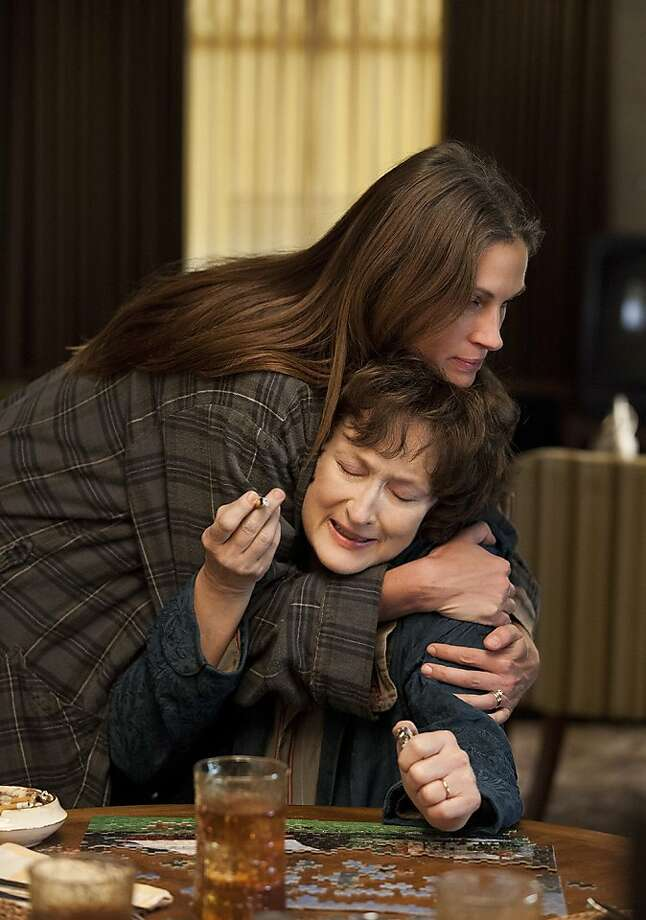 "MERYL STREEP and JULIA ROBERTS star in ""August: Osage County.""  Photo: Claire Folger, The Weinsteiin Co."