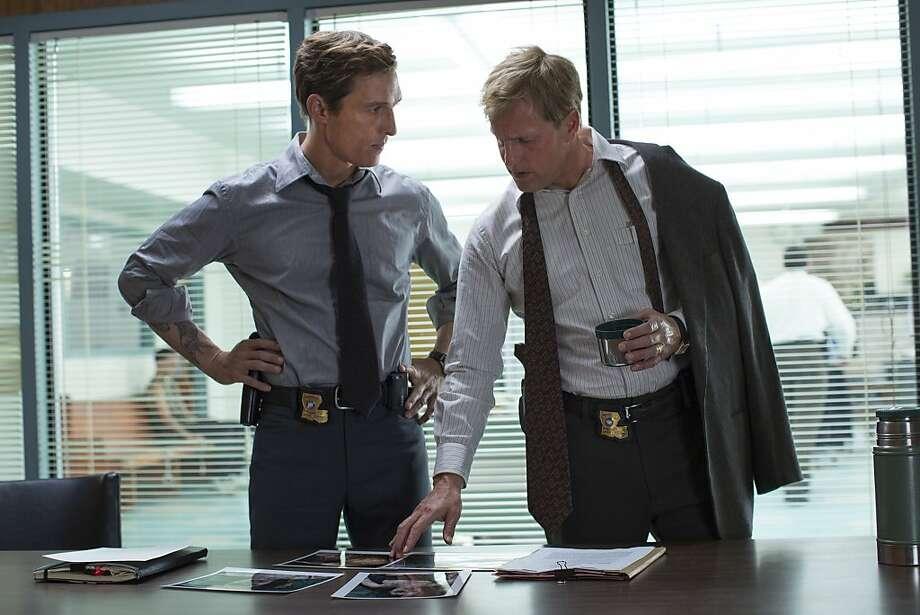 TRUE DETECTIVE episode 3: Matthew McConaughey, Woody Harrelson. Photo: Michele K. Short, HBO