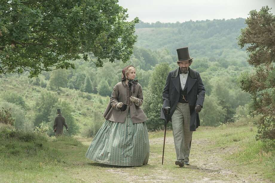 "Ralph Fiennes and Felicity Jones play Charles Dickens and his young mistress, Nelly Ternan, in ""The Invisible Woman."" Fiennes also directed the movie, which is based on the book by Claire Tomalin. Photo: David Appleby, Sony Pictures Classics"