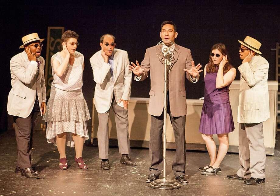 "Wilson Mizner (Rudy Guerrero) pushes another get-rich-quick scheme in Theatre Rhinoceros' Bay Area premiere of Stephen Sondheim's ""Road Show."" Photo: David Wilson"