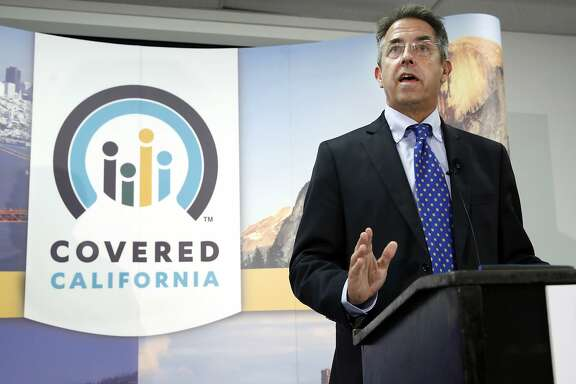FILE - In this Nov. 13, 2013 file photo, Peter Lee, executive director of Covered California, the state's health insurance exchange, announces that sign-ups have accelerated in November for health insurance during the first month of open enrollment during a news conference in Sacramento, Calif. Californians were responding to Monday's deadline for gaining health insurance with heavy activity on the marketplace's website and call centers. Covered California, the agency operating the exchange, had no current plans to extend the deadline by another day, as the Obama administration announced it was doing for the 36 states using the federal health insurance exchange. California runs its own exchange under the federal Affordable Care Act. Those who enroll by the end of Monday will have coverage starting Jan. 1, but will have until Jan. 6 to pay for their policies. (AP Photo/Rich Pedroncelli, File)