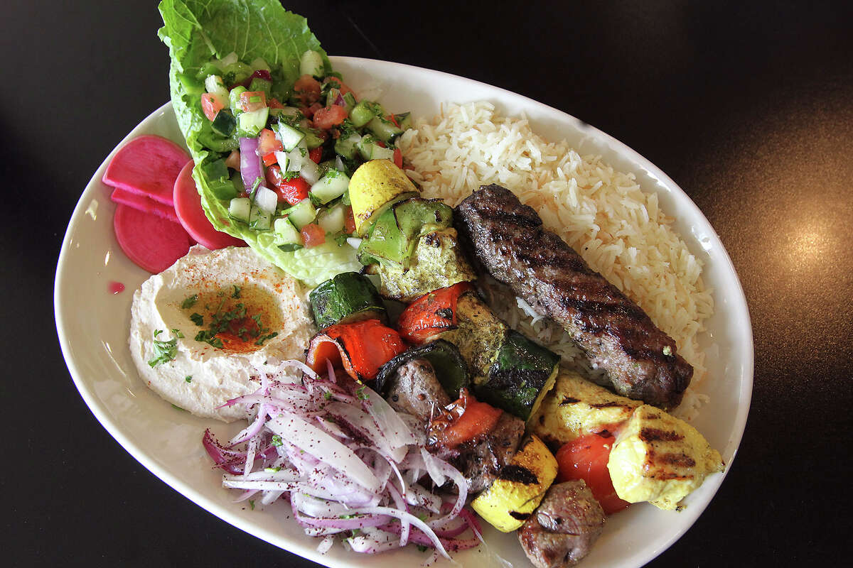 Mixed grill kebab is served at Jerusalem Grill on January 7, 2014.