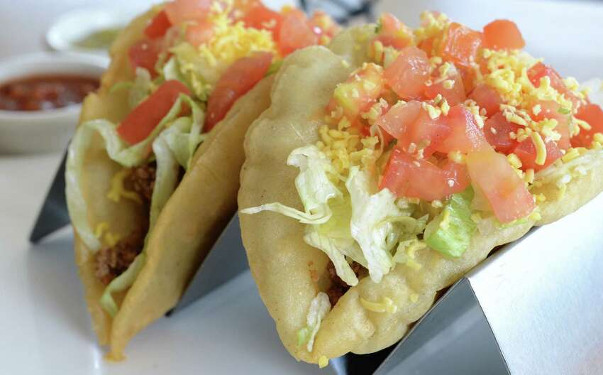 A San Antonio culinary tradition is the might puffy taco. There are a number of places to get them, but Taco Taco Café at 145 E. Hildebrand Ave., has some of the best.