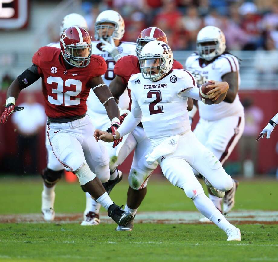 Beating Alabama  Leading a 29-24 win in 2012 over No. 1 and eventual national champion Crimson Tide on their home field in Tuscaloosa, Ala., gave him the moment that helped make him the first freshman to win the Heisman Trophy. Photo: Karen Warren, Houston Chronicle