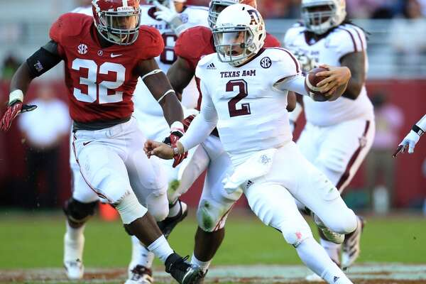 Beating Alabama Leading a 29-24 win in 2012 over No. 1 and eventual national champion Crimson Tide on their home field in Tuscaloosa, Ala., gave him the moment that helped make him the first freshman to win the Heisman Trophy.