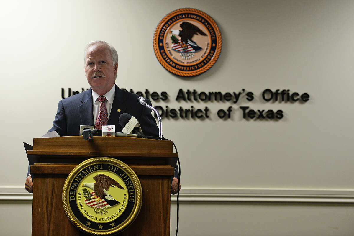 U.S. Attorney John M. Bales announced the indictment of Devin Wayne McCraney, 35, and Sharika Baksh Allison, 43, on federal charges in the Eastern District of Texas at a press release Thursday. Michael Rivera/@michaelrivera88 Photo Taken Thursday, 01/08/14
