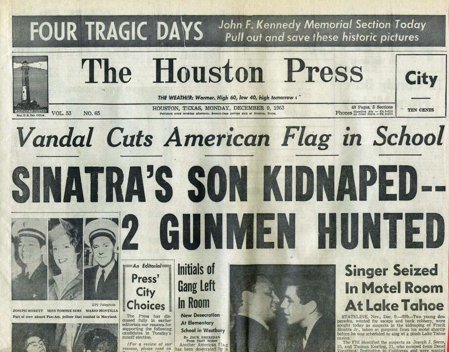Scripps-Howard published The Houston Press, then one of three major daily papers serving the city. It was founded in 1911 and ceased publication in 1964. Photo: Houston Press Newspaper