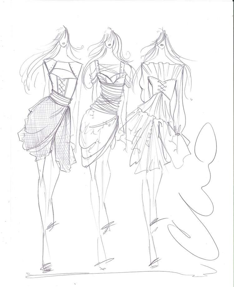 """The Pirate Fairy"" Zarina costume sketches by Christian Siriano. Photo: Disney Enterprises"