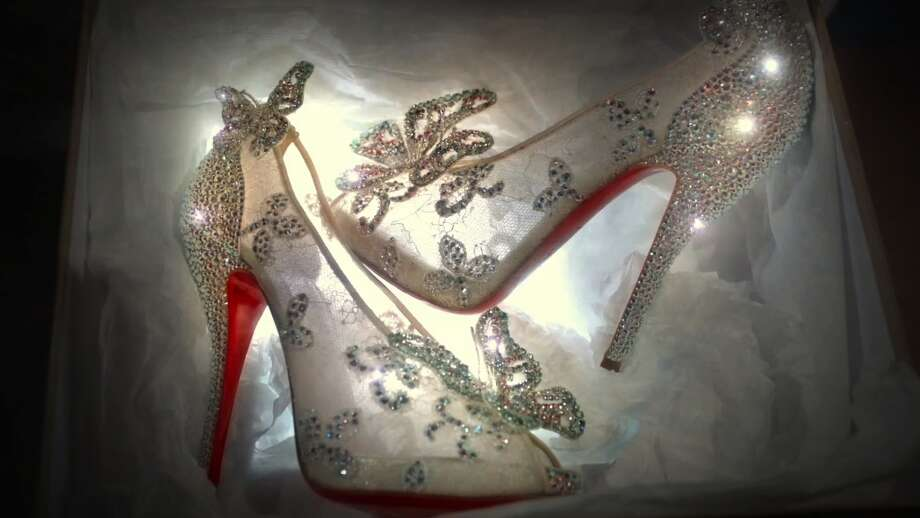 "In the fall of 2012, shoe icon Christian Louboutin created a special pair of Cinderella-inspired shoes for Disney's release of the ""Cinderella"" Diamond Edition on Blu-ray disc. Photo: 2012 Disney"