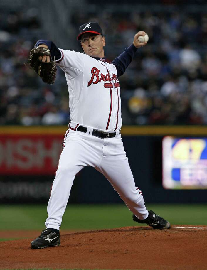 FILE - JANUARY 8, 2014: It was reported that MLB players Greg Maddux, Tom Glavine and Frank Thomas were elected to the Baseball Hall of Fame January 8, 2014. ATLANTA - MARCH 31: Pitcher Tom Glavine #47 of the Atlanta Braves throws a pitch in his first game back with the Braves during the game against the Pittsburgh Pirates on March 31, 2008 at Turner Field in Atlanta, Georgia.  The Pirates beat the Braves 12-11 in 12 innings.  (Photo by Mike Zarrilli/Getty Images) ORG XMIT: 80323749 Photo: Mike Zarrilli / 2008 Getty Images