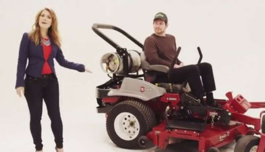 A new video from the National Propane Gas Association promotes the fuel's use in lawnmowers and road vehicles. (National Propane Gas Association) Photo: National Propane Gas Association
