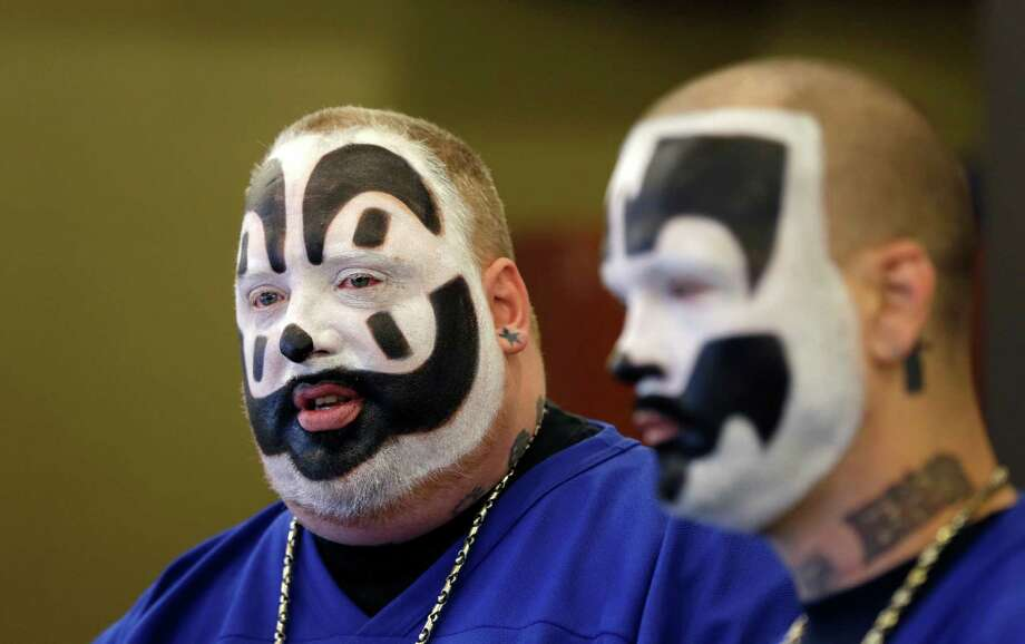 "The Insane Clown Posse, a hip hop group composed of Joseph ""Violent J"" Bruce and Joseph ""Shaggy 2 Dope"" Utsler, recently lost a lawsuit seeking to lift the gang label off of their fanbase, the ""Juggalos."" Photo: Carlos Osorio, STF / AP"