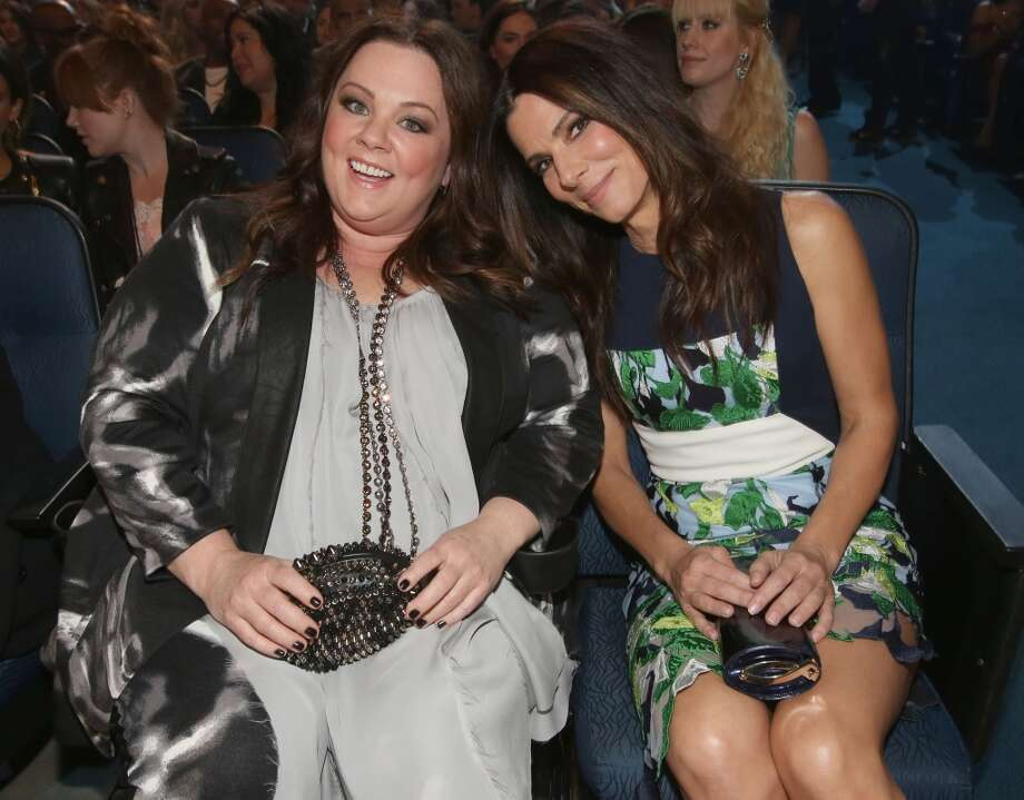 Actors Melissa McCarthy (L) and Sandra Bullock attend The 40th Annual People's Choice Awards at Nokia Theatre L.A. Live on January 8, 2014 in Los Angeles, California.  (Photo by Christopher Polk/Getty Images for The People's Choice Awards) Photo: Christopher Polk