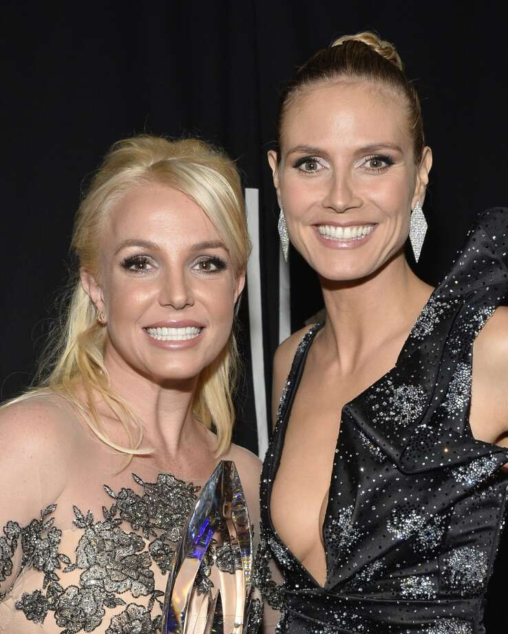 Singer Britney Spears (L) and TV personality Heidi Klum attend The 40th Annual People's Choice Awards at Nokia Theatre L.A. Live on January 8, 2014 in Los Angeles, California.  (Photo by Frazer Harrison/Getty Images for The People's Choice Awards) Photo: Frazer Harrison